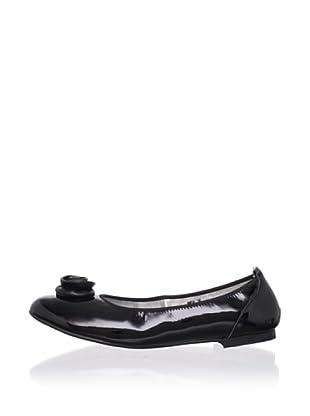 Adone Vitali by J. Loren Kids Anya Dress Shoe (Black)