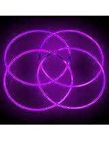 "22"" Glowsticks Glow Stick Necklaces Purple (200 Necklaces)"