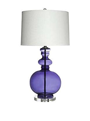 Glass Table Lamp, Purple