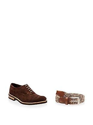 Ortiz & Reed Zapatos Oxford + Cinturón SET-ZDS31-CDT8