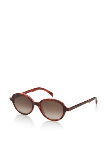 Jil Sander Women's Round Sunglasses, Tortoise/Coral