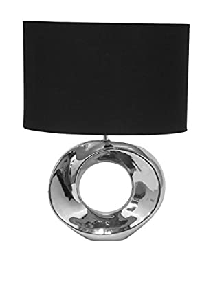 Three Hands Silver And Black Ceramic Table Lamp