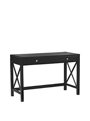 Linon Home Décor Anna Collection Desk, Antique Black/Red