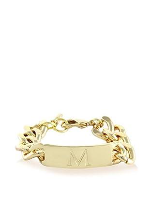 Ettika 18K Gold-Plated M Initial ID Bracelet