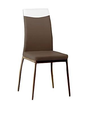 CRIBEL Stuhl 4er Set Jet braun/weiß