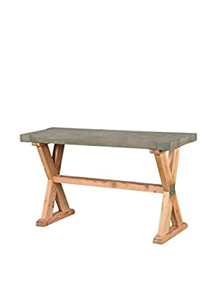 CDI Furniture International Concrete Console Table, Brown/Grey