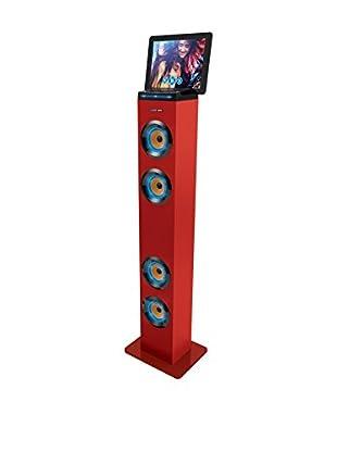 Sharper Image Bluetooth Tower Speaker (Red)