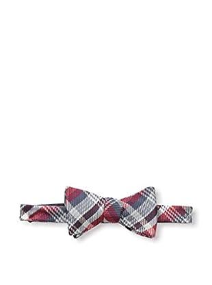 Bruno Piattelli Men's Plaid Bow Tie, Red