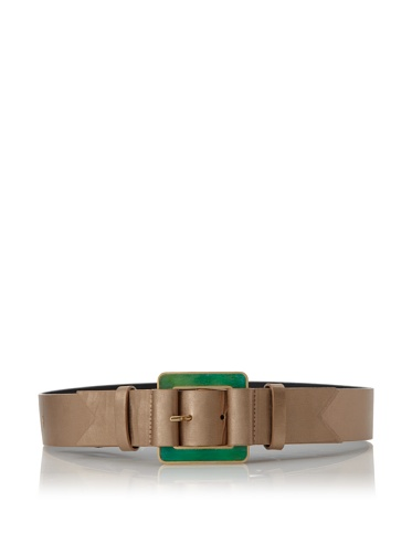 Meredith Wendell Women's Glass Buckle Belt (Bright Gold)