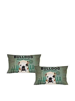 LITTLE FRIENDS by MANIFATTURE COTONIERE Kopfkissenbezug 2er Set Bulldog