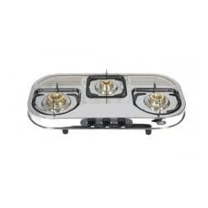 SignoraCare Stainless Steel Three(3) Burner Gas Stove(ISI MARK)