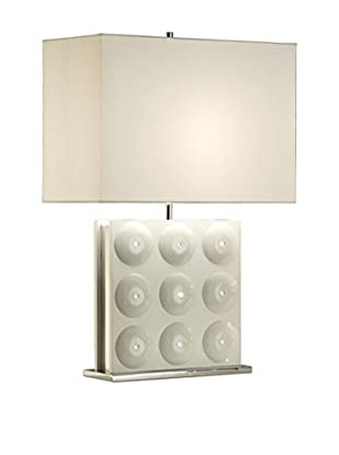 Nova Lighting Trudy Standing Table Lamp, Gloss White
