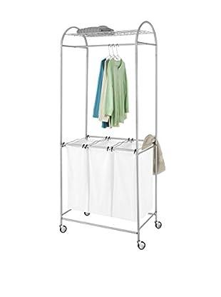Whitmor Deluxe Laundry Center, Chrome/White