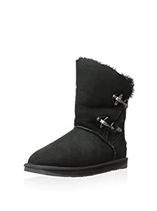 AUStralia Luxe Collective Womens Renegade Shearling Boot With Double Buckle Closure (Black)