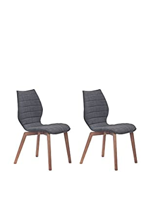 Zuo Modern Aalborg Set of 2 Mid Century Dining Chairs