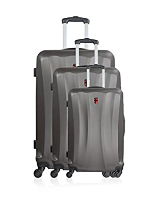 GEOGRAPHICAL NORWAY Set de 3 trolleys rígidos Simy