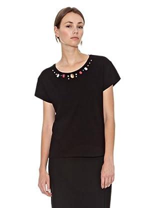Mango Camiseta Stones (Negro)