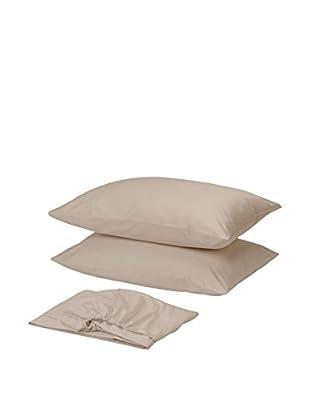 Homemania Betttuch und Kissenbezug naturweiß 210 x 250 cm