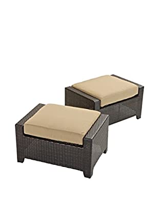 RST Brands Deco Set of 2 Club Chair Ottomans, Beige