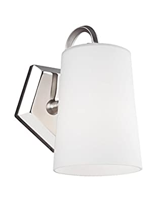 Feiss 1-Light Sconce, Satin Nickel/Polished Nickel