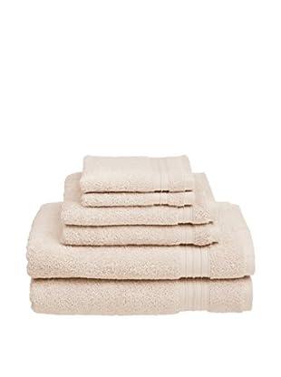 Welspun Hygrosoft 6-Piece Towel Set, Vanilla