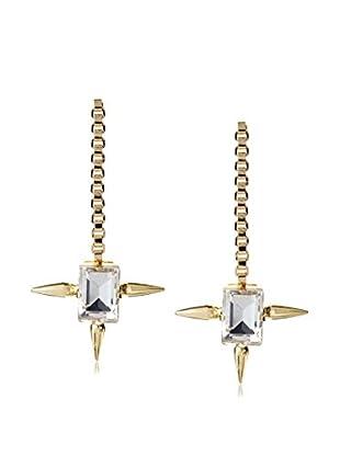 Fallon Gold Long Drop Earrings