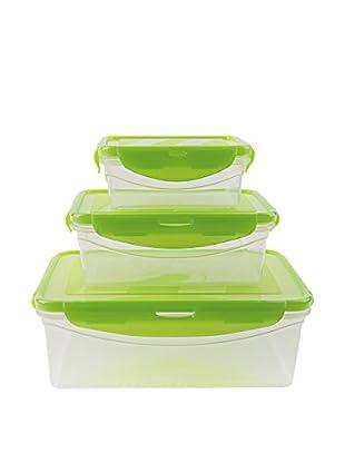 Molecuisine Frischhaltebox 3 tlg. Set Freshness grün