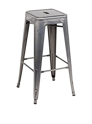 LO+DEMODA Set Taburete de bar 2 Uds. Hight Ural Metal Gris