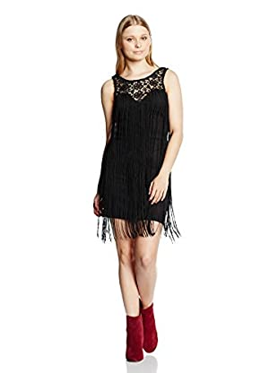 Rare London Kleid Lace Fringe Sleeveless High Neck