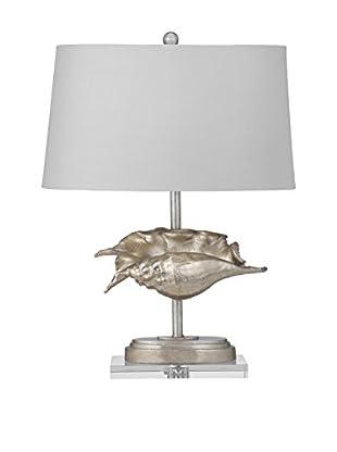 Bassett Mirror Company Del Mar 1-Light Table Lamp, Silver Leaf