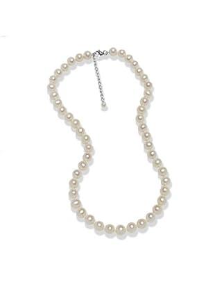Valero Pearls 602016222 - Collar de mujer de plata de ley con perla de agua dulce, 55 cm