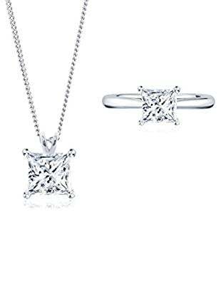 Diamond Style Set Collier und Ring Princess