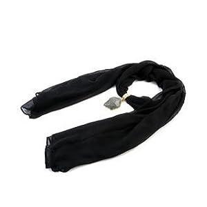 Alekhya Black Embellished Cotton Scarf