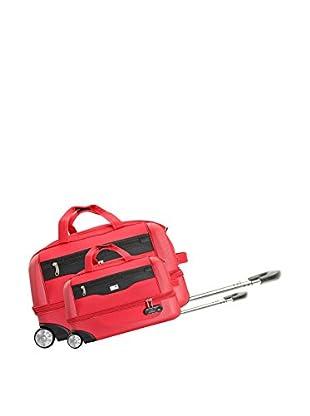 Potiron 2er Set Trolley Tasche Cokpit rot