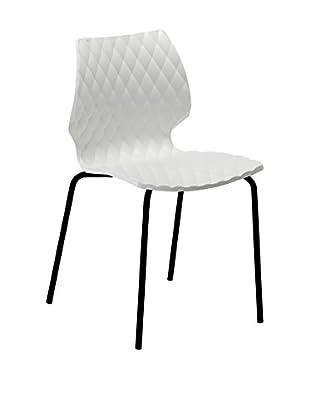 Metalmobil Stuhl 4er Set Uni-550 weiß/schwarz