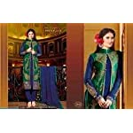 Green Georgette Dress Material With Dupatta