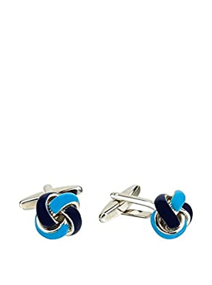 Ortiz & Reed Manschettenknopf Blue Brass Cufflinks