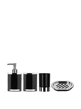Premier Housewares Bad-Accessoires 4 tlg. Set 1601514 schwarz