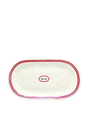 Rae Dunn by Magenta French Oval Tray, White