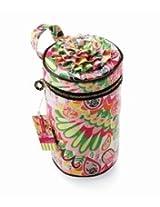 Mud Pie Morning Glory Bucket Toiletries Case Travel Cosmetic Case Bag