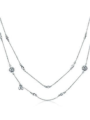 Saint Francis Crystals Halskette silberfarben