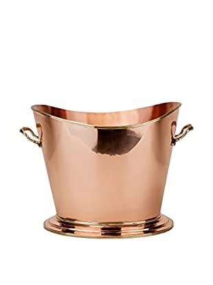 Old Dutch International Solid Copper Wine Cooler with Brass Handles