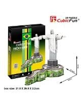 3 D Puzzle Christ The Redeemer Cubic Fun 3 D Puzzle C187h 22 Pieces Decorative Fashion Best Seller Exiting Fun Educational Historic Playing Building Game Diy Holiday Kids Best Gift Toy Set