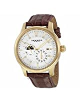 Akribos Automatic Multi-Function Gold-Tone Mens Watch Ak537Yg