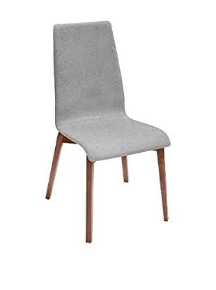 Domitalia Jill Chair, Light Grey/Brown