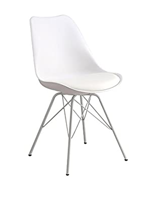 LO+DEMODA Set Silla 2 Uds. Cross Metal Blanco