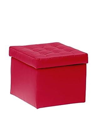 13 Casa Puff Contenedor Toy Rojo
