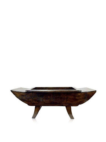 Antique Revival Canoe-Shaped Planter (Natural Pine)