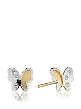 Gold & Diamond Pendientes Voila