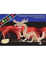 Puzzled Dragon Large Wooden 3D Puzzle Construction Kit